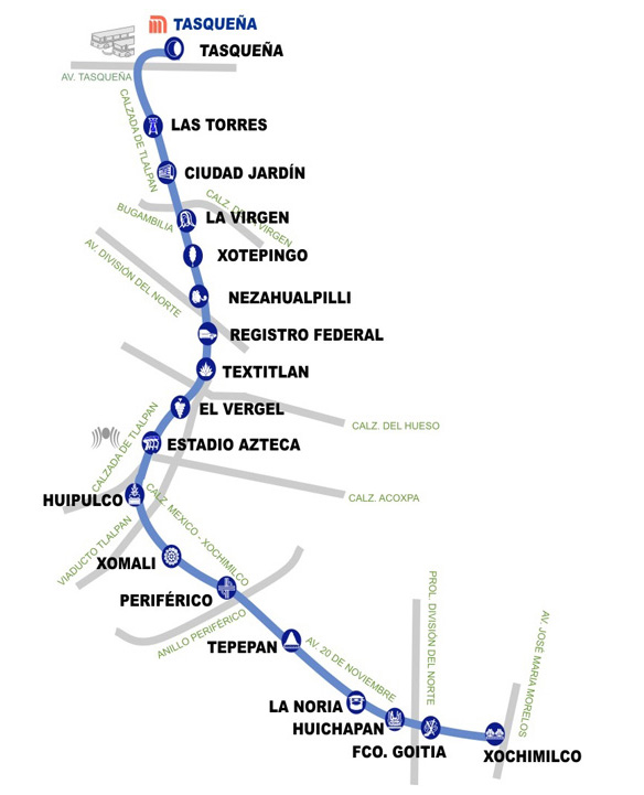 map of mexico city tram network